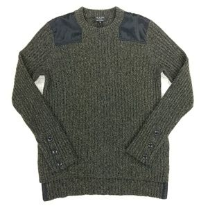 rag & bone 100% cashmere Amanda army green sweater